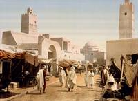 Main street and mosque, Kairouan, Tunisia, ca. 189