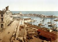 The harbor and admiralty, Algiers, Algeria, ca. 18