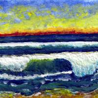 Tropical Seascape Sunrise C3 Art Prints & Posters by Ricardos Creations