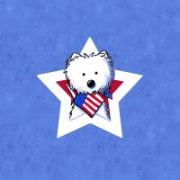 Star Speckled Westie Art Prints & Posters by Kim Niles