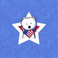 Star Speckled Westie Art Prints & Posters by Kim Niles