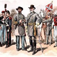 Confederate Uniforms American Civil War Art Prints & Posters by Phil Cardamone