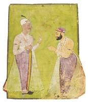 DIVAN MUNIR-AL-MULK OFFERING RESPECT TO NIZAM ALI