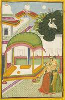 AN ILLUSTRATION TO A RAGAMALA SERIES- , MALAVI RAG