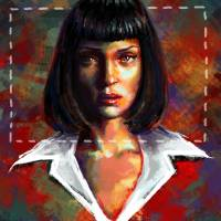 Mia Wallace Art Prints & Posters by Laura Ferreira