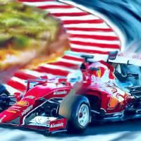 Ferrari Formula One Art Prints & Posters by Tom Sachse