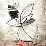 """mid century modern kitty w string fin"" by AlmaLee"