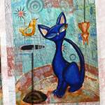 """""""Black Cat named Blue"""" by AlmaLee"""