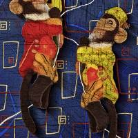 monkey See FIN rug Art Prints & Posters by Alma Lee