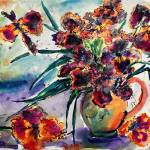 """Black Irises Watercolor by Ginette"" by GinetteCallaway"