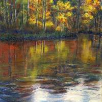Turkey Creek Nature Trail Pastel. Art Prints & Posters by Randy Sprout