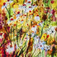 Chamomile Flowers Decorative Contemporary Art Prints & Posters by Ginette Callaway