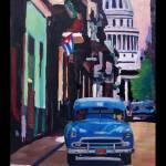 """Poster Havana Cuba Street Scene Oldtimer Vintage"" by arthop77"