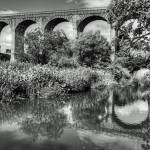 """Avon Viaduct Reflections B&W"" by TomGomez"