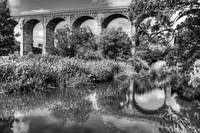 Avon Viaduct Reflections B&W