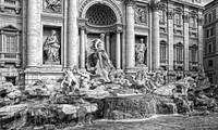 Trevi Fountain B&W