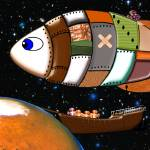 Martian Navy Airship on Patrol