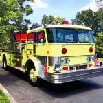 """Yellow Fire Truck"" by susansartgallery"