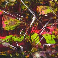 Abstract_Acryl_Painting_Dark_17 Art Prints & Posters by Max Kulich