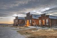 Twilight on Bodie's Main Street