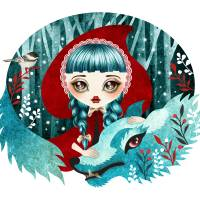 Red of the Woods Art Prints & Posters by SANDRA VARGAS