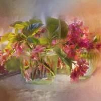 Begonias Art Prints & Posters by John Rivera
