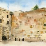 """""""western Wall watercolor"""" by schulmanart"""