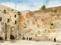 western Wall watercolor