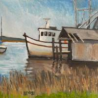 St Mary's Shrimp Boat Art Prints & Posters by Robert Holewinski