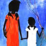"""LUCY & SISTA   LARRY KIP HAYES  SOUTHERN  FOLK ART"" by kiphayes"