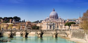 St. Peter's Basilica And Ponte Sant Angelo