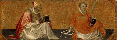 A Bishop Saint and Saint Lawrence, Gherado di Jaco