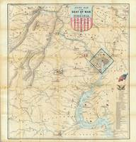 1862 Virgina, Washington DC, Map