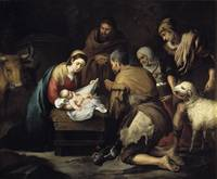 Adoration of the Shepherds , Bartolome Esteban Mur