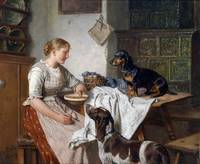Adolf Eberle, (Munich 1843-1914), hungry fellows