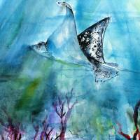 Underwater World Tropical Ocean Art Prints & Posters by Ginette Callaway