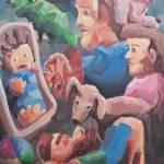 """FamilyisSweet, acryliconcanvas, 30x24, 2015, rawcr"" by PjCreates"
