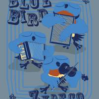 Bluebird Zydeco Art Prints & Posters by Paige Wallis