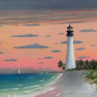 Cape Florida Light Art Prints & Posters by Gordon Beck