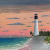 Cape Florida Light Art Prints & Posters by Gordon Beck