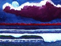 Moonlit Dawn Seascape C5