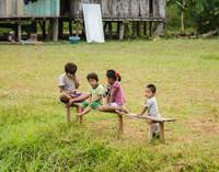 Kids on the Banks of the Amazon