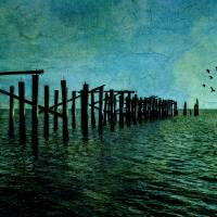 Happy Land Pier Art Prints & Posters by James Hanlon
