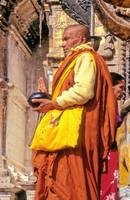 Tibetan Monk Pray For Nepal