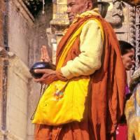 Tibetan Monk Pray For Nepal Art Prints & Posters by Joao Ponces de Carvalho