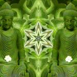 """Double Green Buddhas"" by SeaAngel12"