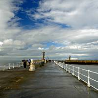 Along The West Pier, Whitby (40226-RDA) Art Prints & Posters by Rod Johnson