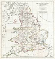 Vintage Map of England (1794)