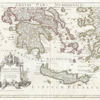 Vintage Map of Southern Greece (1794) Art Prints & Posters by Alleycatshirts @Zazzle