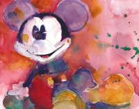 Mickey Mouse  Red Bg